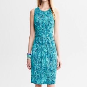Banana Republic Issa Blue Wrap Dress Sz. 4